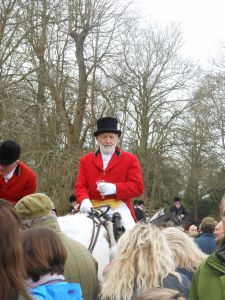 Crowds of spectators gathered to greet the horses, the hounds and to revel in the atmosphere. Image © Hollie Borland