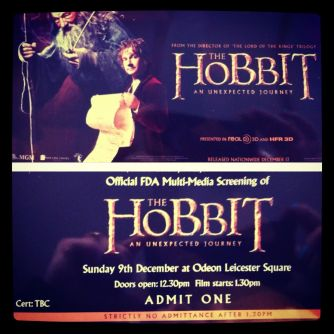 Ticket to The Hobbit: An Unexpected Journey