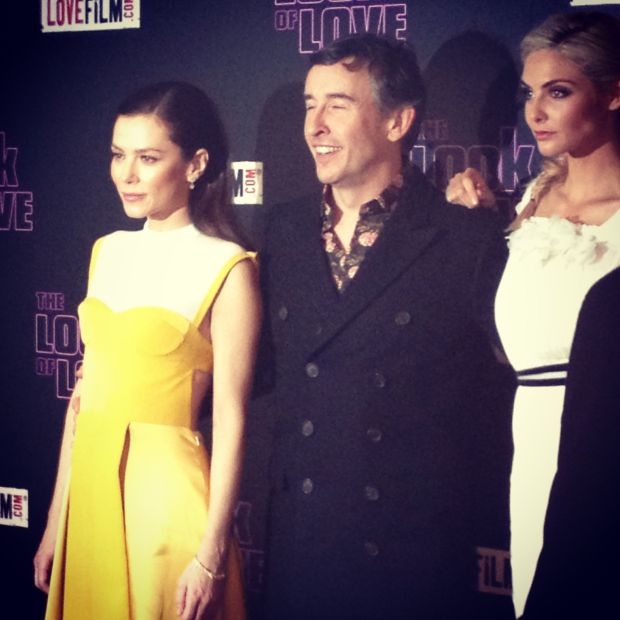 Anna Friel, Steve Coogan and Tamsin Egerton pose for photos at the premiere in Soho. Image © of Hollie Borland