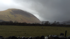 View from the bottom of Scafell Pike March 28, 2015. Far from what it was like the day before.